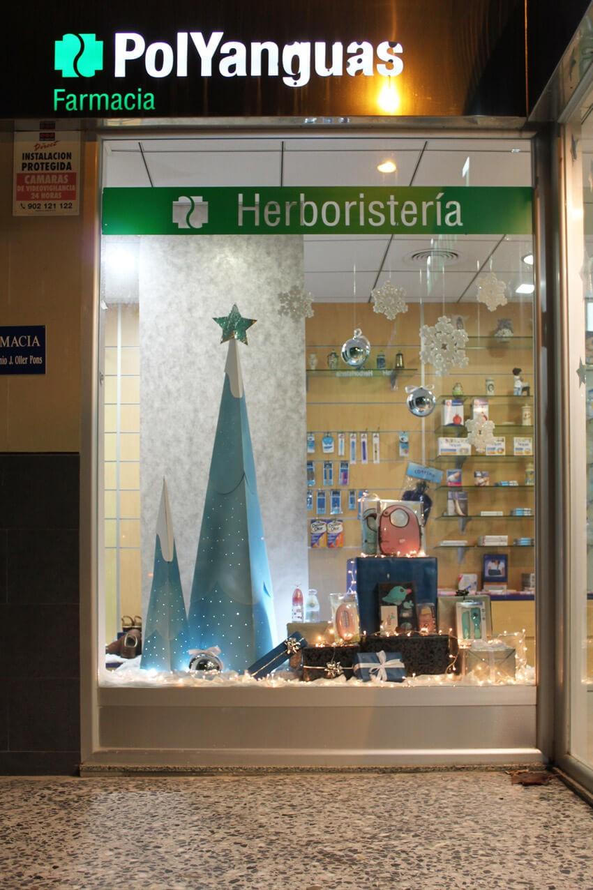 Escaparate navide o en la farmacia el dorado escaparates - Decoracion farmacias ...
