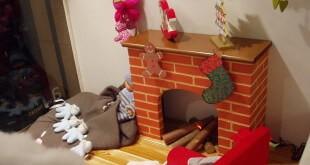 escaparate de navidad en comercio de moda infantil