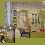 decoración interior en el comercio de moda infantil Badum Badero, por Neli