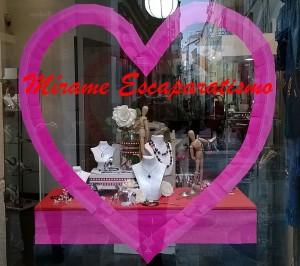 escaparate san valentin 2, Mírame Escaparatismo