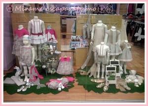 Escaparate de primavera en la tienda de moda infantil Bolboreta, foto 1