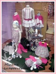 Escaparate de primavera en la tienda de moda infantil Bolboreta, foto 2