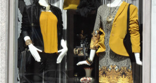 elegancia en escaparate de moda