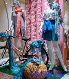 bicicleta en escaparate de primavera