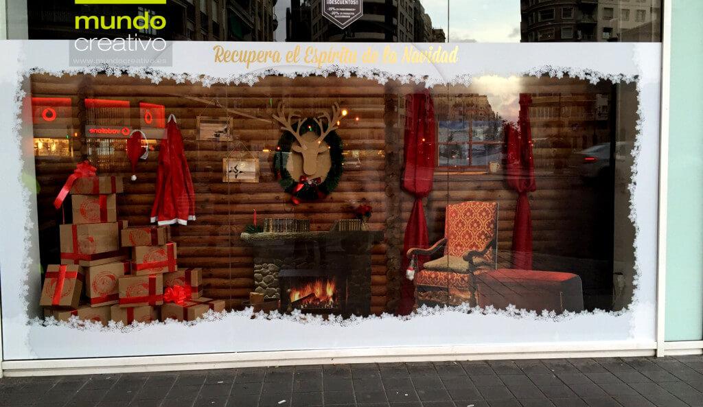Escaparate de la temporada navideña realizado por Mundo Creativo, foto 1