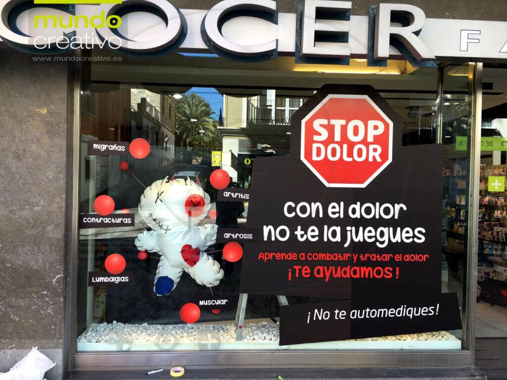 Escparate campaña Dolor en Farmacia Alcocer, Valencia. Mundo Creativo