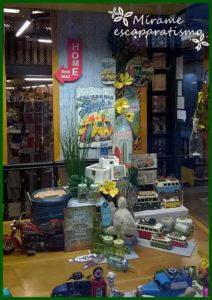 Escaparate de primavera-verano en la tienda de regalos y decoración Brujerias 1