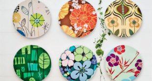 Expositor para patchwork, visual merchandising con textiles