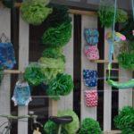Flores verdes en papel de seda, idea para escaparates de primavera, imagen 2
