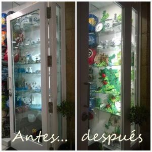 El antes y el después en el escaparate de Nova Andaina, Mírame escaparatismo, verano 2016; imagen 2
