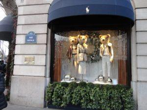 inspiración con escaparates navideños de Paris