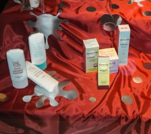 Escaparate Otoño 2010 con productos de estética