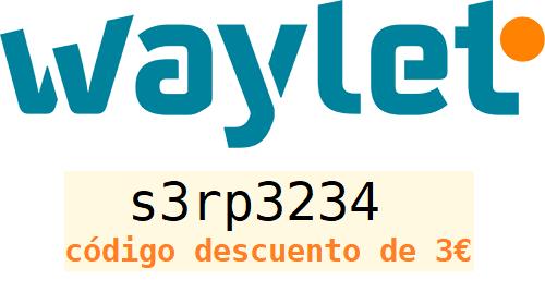 s3rp3234 código descuento app waylet repsol 3 euros